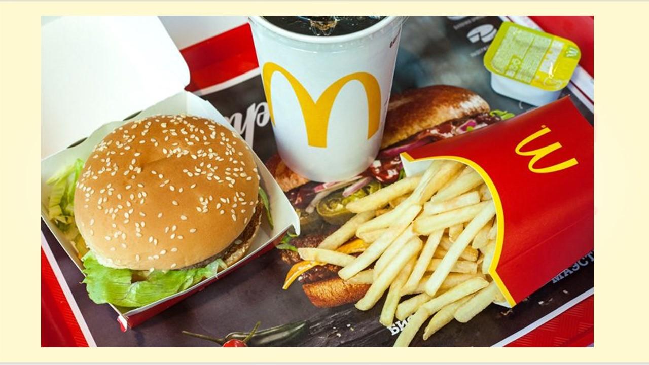 Заказать MacDonald's в Сочи